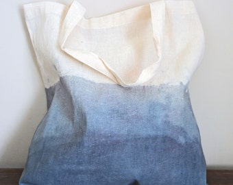 Hand Dyed Dip Dye Tote bag