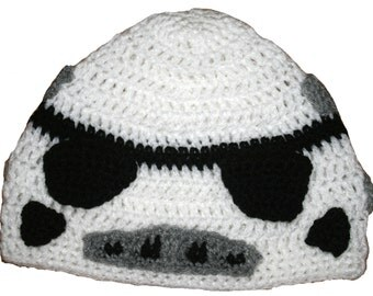 Star Wars Inspired Hand Crocheted Stormtrooper Hat  HH151