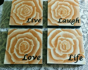 Live, Laugh, Love, Life inspirational artwork made to order for you.