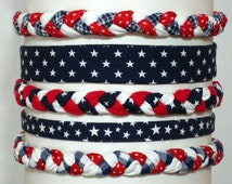 American Headbands in Red White Blue / Patriotic Headband Team USA Stars and Stripes Hairband / USA Independence Day - women, men, babies