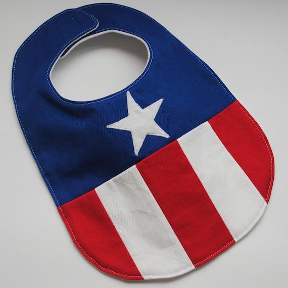 Captain America Baby Bib