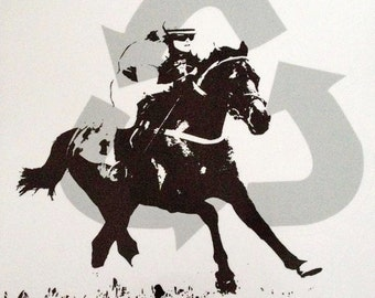 Recycled OTTB Decal, Thoroughbred Decal, Off The Track Thoroughbred Decal, OTTB, Trailer Decal, Off Track Thoroughbred, Horse Decal