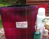 Harris Tweed Washbag - checks and tartan, make up bag, woman accessory, storage, cosmetic bag, vanity storage