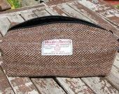 Harris Tweed Washbag - For Him