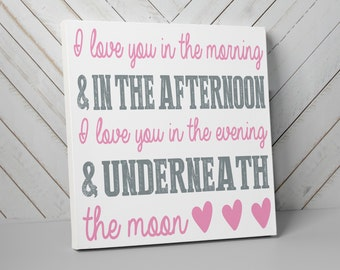 I Love You in the Morning and in the Afternoon Wall Art, Skidamarink, Elephant Show, Nursery Art