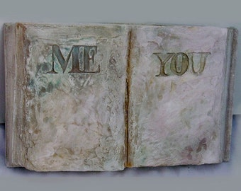 YOU AND ME, Sculpture,Porcelain,porcelan book, book,Handmade-The Book-2,4 x 3,9 x 3,3,Ceramics,Love,Gift,me, you, love,funy,War and Peace,