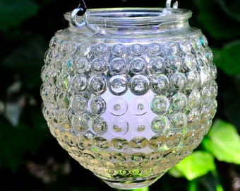 Glass candle holder - hanging lantern