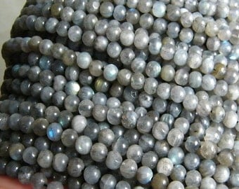 4- 5 mm Round Labradorite Beads String AA Quality India,Labradorite Handmade Beads India