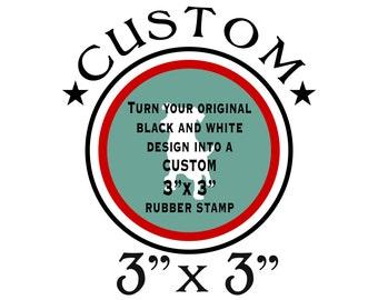 "Custom Stamp - 3""x3"" RUBBER"