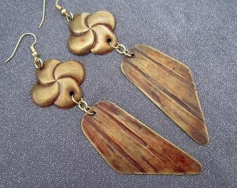 dangle earrings, metal dangles, metal earrings, long earrings, rustic earrings, rustic jewelry, statement earrings, statement jewelry, gifts