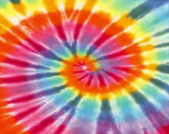 Tie Dye pattern craft  vinyl sheet - HTV or Adhesive Vinyl -  rainbow colors HTV2500