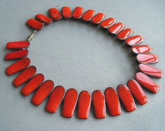 Gorgeous statement ceramic necklace by Brondsted, Denmark.