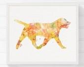 Labrador Dog Art, Dog Art Print, Dog Wall Decor, Dog Wall Art, Dog Silhouette Print, Watercolor Dog, Watercolor Print, Archival Print