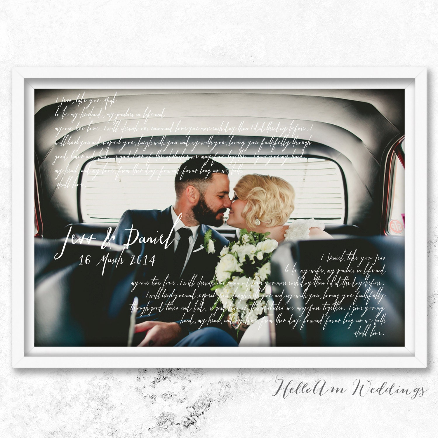 Wedding Anniversary Gift For Him Wedding Vows Paper