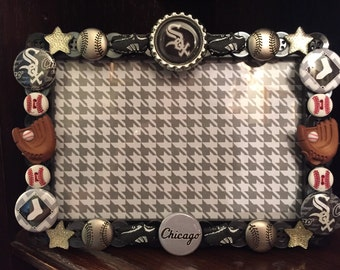Chicago White Sox button picture frame
