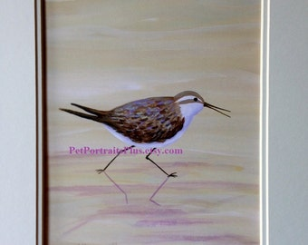 Sandpiper Headed Right print