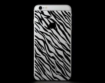 Zebra Print Phone Cover Decal