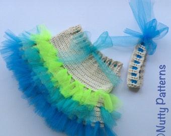 Crochet Pattern * Ocean Tutu Skirt for girls * Pdf * Instant Download Pattern #487 * Easy *baby * toddler * child