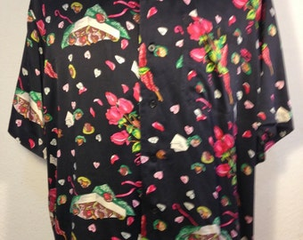 FREE  SHIPPING   Men's Silk Nicole  Miller  Shirt