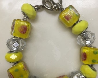 Yellow charm bracelet