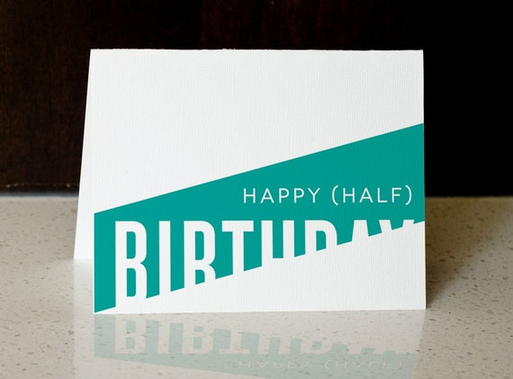 happy half birthday greeting card digital download by