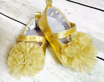 Baby Girl Shoes, Baby Shoes, Gold Baby Shoes, Glitter Baby Shoes, Infant Shoes, Gold Glitter Baby Shoes, Gold Shoes, Mary Janes