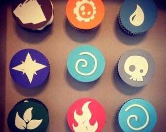 Edible Skylander Cupcake Toppers