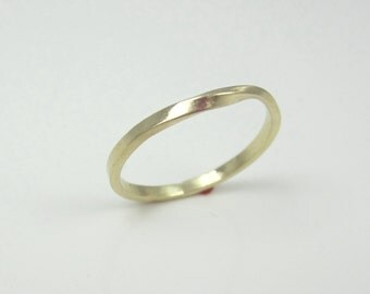 Skinny Solid Gold Mobius Strip Ring| 14K Recycled Yellow Gold| Eternity Ring| Promise Ring| Unisex| Minimalist| Eco Friendly| Ethical
