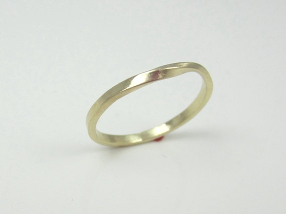 Skinny Solid Gold Mobius Strip Ring 14K Recycled Yellow