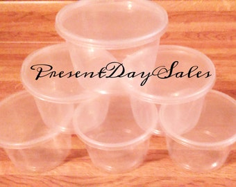 16 oz. Clear Plastic Storage Containers with Lids  Sets of 12, 25, 50,100,200  *Free Shipping*