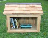 Free Book Library   Outdoor Library   Leave a Book Take a Book   Little Library House   Free Library   Home Garden Decor   Front Yard Book