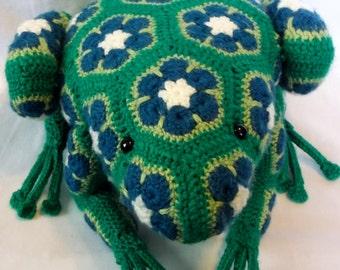 Crochet Stuffed Frog-Ready to Ship