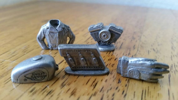 monopoly pieces harley davidson game tokens craft supplies. Black Bedroom Furniture Sets. Home Design Ideas