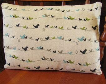 SALE! Bird motif pillow cover