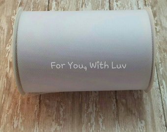 White tulle roll, 100 yards white tulle spool of 6 inches wide high quality white tulle fabric.