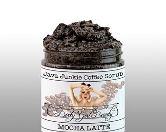Java Junkie Coffee Scrub 4 fl. oz. in MOCHA LATTE