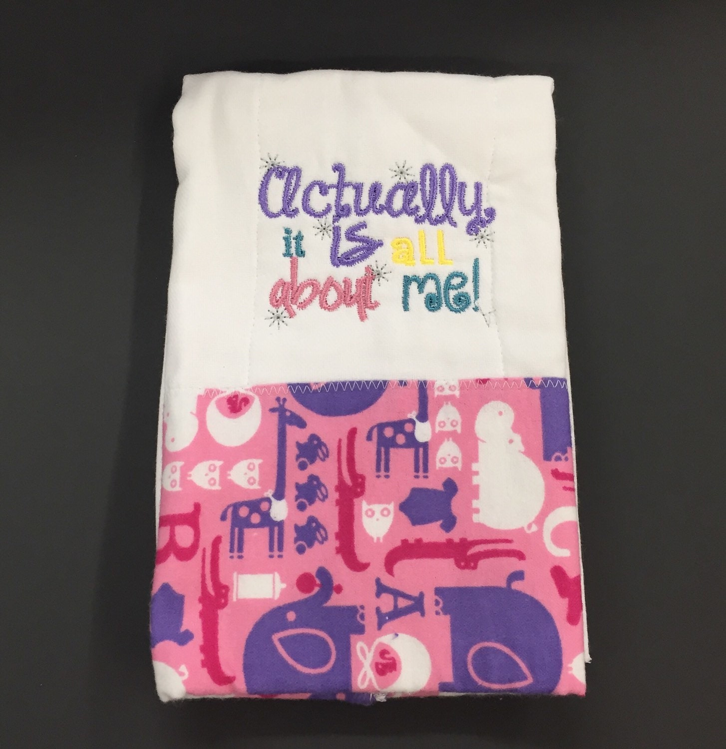 Baby girl burp cloths embroidered burp by OwlBeStitchingGifts