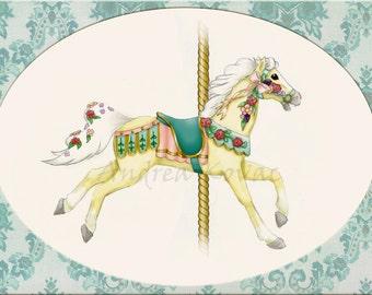 Palomino Carousel Horse