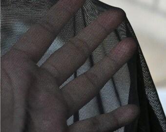 """Lace Fabric White Black Soft Stretchy Wedding Fabric DIY Handmade 70.8"""" width 1 yard"""