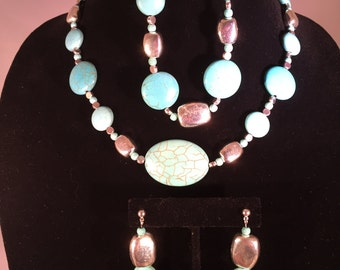 Turquoise & Silver Jewelry Set