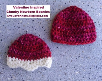 CROCHET PATTERN - Newborn Twin Chunky Beanies - Easy Crochet Pattern - Permission to Sell Items