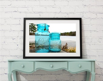 Gray Skies & Mason Jars Print - Landscape Photography