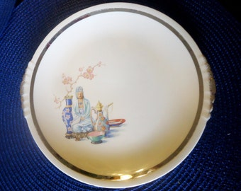 The Paden City Pottery Co. Plate Far East Pattern