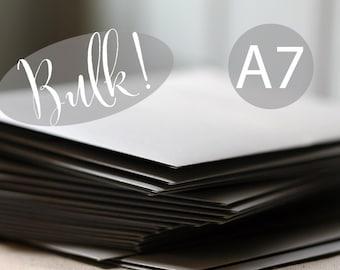 """SALE - BULK! 100 A7 (5x7) Metallic Silver Envelopes - (true size 5 1/4"""" x 7 1/4"""") - Silver Shimmer Envelopes - Wedding Envelopes"""