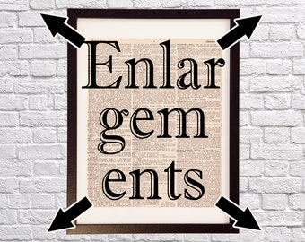 Print Enlargements - 11x14+ Premium Photo Paper - Choose from 11x14, 12x18, or 16x20