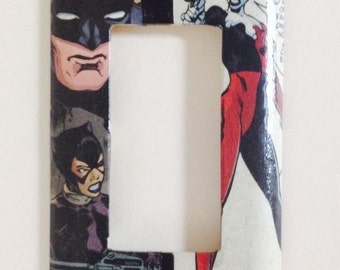 Catwoman and Harley Quinn single lightswitch cover