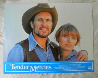 Vintage Tender Mercies Lobby Cards 1983 Robert Duvall Tess Harper Ellen Barkin Rare Collectible Movie Theater Display
