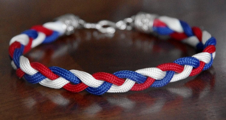 Braided Bracelet Patriotic Braided By Knotsenseknots4tots