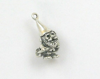 Sterling Silver 3-D Garden Gnome with Shovel Charm