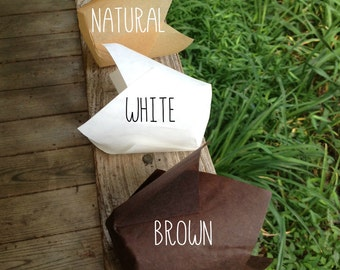 "2"" x 3-1/2"" Chocolate Brown • Natural • White Tulip Cupcake Baking Cups • Liners  • Cupcakes • Muffin Cup • Birthdays • Weddings"